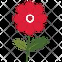 Red Cut Flower Leaf Icon
