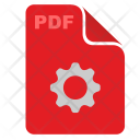 Red File Settings Icon