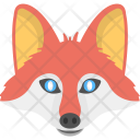 Red Fox Face Icon