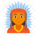 American Indian Injun Icon