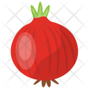 Red Onion Raw Icon