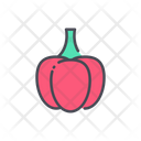 Red Pepper Capsicum Pepper Icon