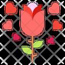 Flower Red Flower Heart Icon