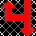 Red Sign Arrows Gps Symbols Icon