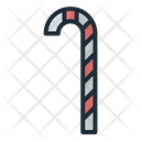 Red White Stick Candy Cane Rainbow Candy Icon