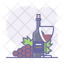 Red Wine Bottle Icon