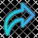 Redo Curved Arrow Right Arrow Icon