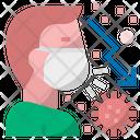 Reduced Transmission Coronavirus Corona Icon