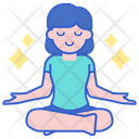 Reducing Stress Yoga Calm Icon