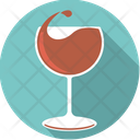 Redwine Wine Glass Icon