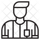 Man Referee Shirt Referee Soccer Icon