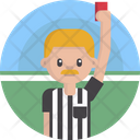 Sports Referee Red Card Icon