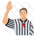 Basketball Signal Referee Signal Five Second Violation Icon