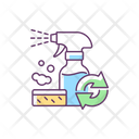 Refillable Cleaning Bottle Icon