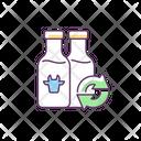 Refillable Milk Bottles Icon