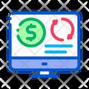 Refinance Money Computer Icon