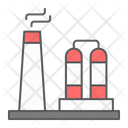 Refinery Chemical Plant Icon