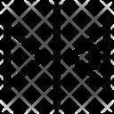 Reflect Transform Vertical Icon