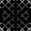Reflection Horizontal Design Icon