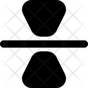 Reflection Vertical Design Icon
