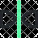 Reflection Background Horizontal Icon