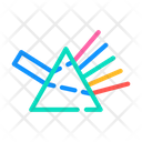 Refraction Light Rays Icon