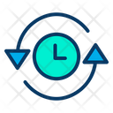 Clock Time Management Refresh Time Icon
