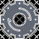 Refresh Setting Update Setting Cog Icon