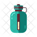 Refreshment Bottle Camping Icon