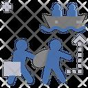 Refugee Migration Escape Icon