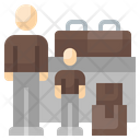 Refugee Adult Migrate Icon