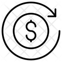 Dollar Refresh Circular Arrow Icon