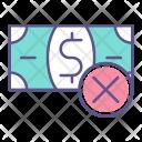 Refuse Money Delete Icon