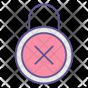 Padlock Refuse Security Icon