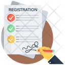 Registration Enrollment Register Icon
