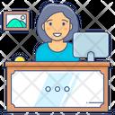 Registration Desk Reception Desk Service Provider Icon