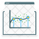 Regression Analysis Dot Graph Dot Chart Icon