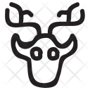 Reindeer Animal Bull Icon