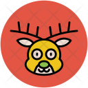 Reindeer Head Animal Icon