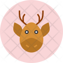 Reindeer Christmas Claus Icon
