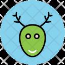 Reindeer Head Animal Icon