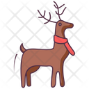 Reindeer Face Animal Face Deer Icon