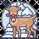 Reindeer Deer Snow Icon