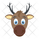 Reindeer Wildlife Christmas Icon