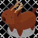 Reindeer Isometric Icon