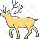 Reindeer Stag Horned Icon