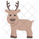 Reindeer Animal Head Icon