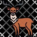 Reindeer Snow Reindeer Santa Claus Sleigh Icon