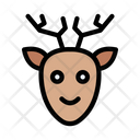 Reindeer Animal Face Icon
