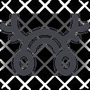 Horns Reindeer Deer Icon